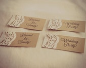Custom for Stephanie - Rustic Wedding Place Cards - Lace Doily Vintage Seating Arrangement Chart - Wishing Tree - Escort Cards