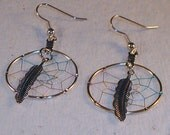 Dream Catcher Earrings Clip On or Pierced You Choose Gift Boxed