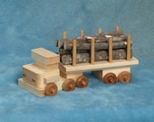 Handcrafted Wood Toy Log Truck