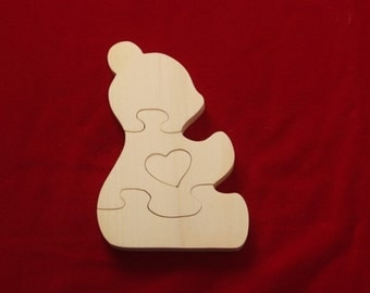 Bear with Heart Puzzle