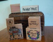 Rubber Stamps -  stamps with different words or sayings