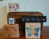 Rubber Stamps - butterfly themed collection