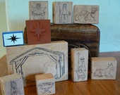Rubber Stamps - Manger Scene