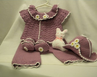 Baby's Easter Outfit, Size 3 to 6 months,  4-piece Baby Outfit