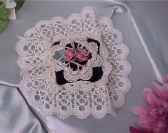 Handmade Beaded VelvetT Victorian Lavender Sachet