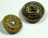 Antique German Buttons marked Gebetzl Geschutzt Vintage Metal Buttons Art Nouveau