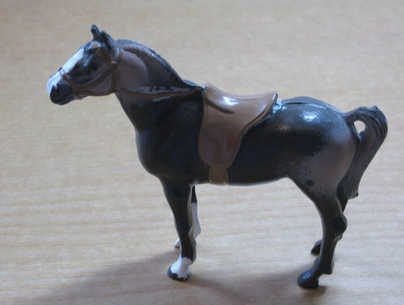 Bergen Vintage Toy Horse by Bergen Toy  Novelty Co. Inc