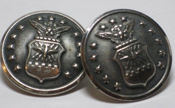 2 Large Vintage Uniform Buttons Bronx NY LR Metal