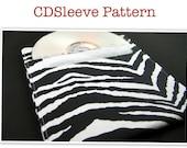 CDSleeve(Digital Download) PDF Pattern, make your sleeve today- CD Case, Burned Cds, Case