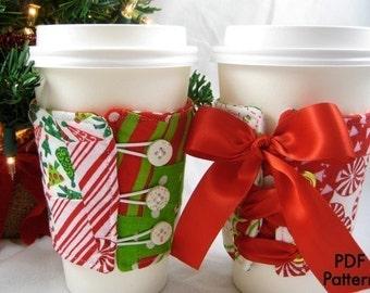 CoffeeSleeve (Instant Download) PDF Pattern- 3 Styles- aGreenSleeve, Eco-Friendly Coffee Sleeve, Coffee Cozy, Coffee Coat, Cup Cozy