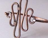 Copper Bracelet - SIMPLE WAVE - Artisan Metalwork Copper Bracelet Bangle - Choose Your Size