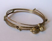 RESERVED for lizbethwilliams ONLY Please - Single Adorned Brass Bangle with Gypsy Bells