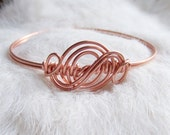 Wire Wrapped LOWER ARMLET or BANGLE - Wire Bracelet Bangle - Arm Band - Armband - Copper - Brass - or German Silver - Made to Order