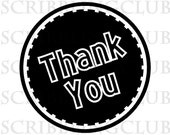 Thank You 1 Clear Rubber Stamp - Mounted