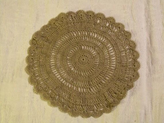 ON Sale crocheted tan doily