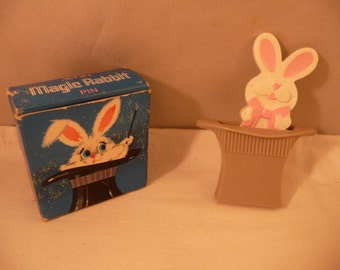 Another Whimsical Avon Item Rabbit in Hat Pin with Box