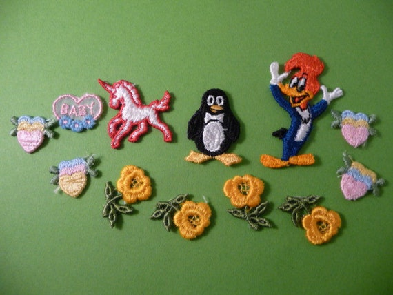 Reserved for Meenyapop Partial Small Lot of 12 Vintage Appliques