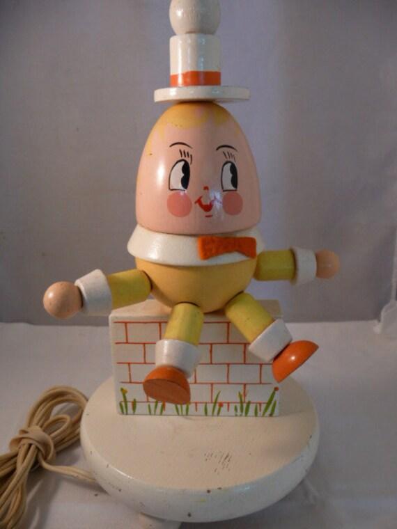 Darling Vintage Irmi Humpty Dumpty Nursery Lamp