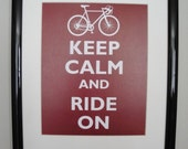 Keep Calm and Ride On - FRAMED PRINT - Customizable Colors
