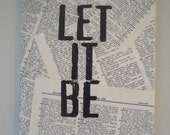 Literary Canvas- Let It Be