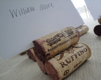 Wine Cork Place Card Holders - Set of 10