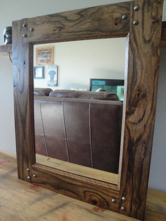 Industrial Oak Mirror