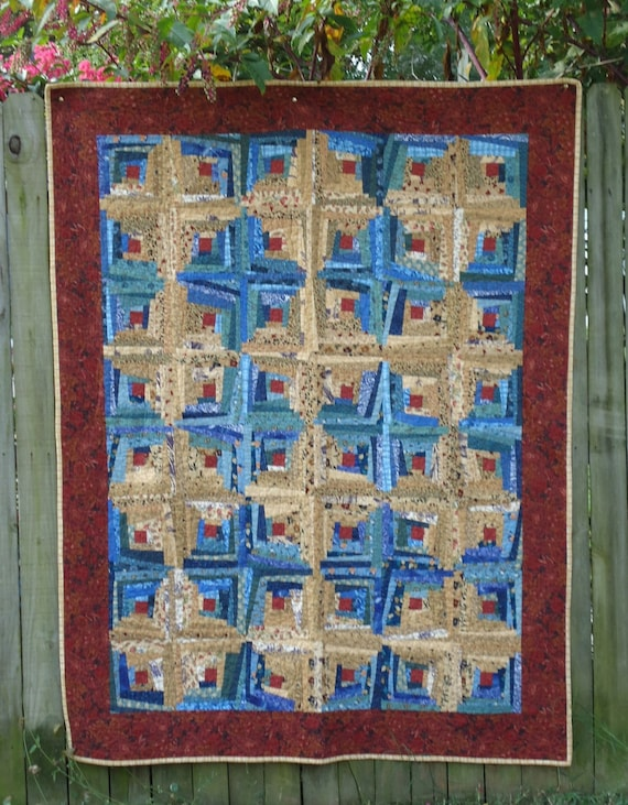 Crazy Log Cabin Quilt Free Shipping With By Vabeachquilter