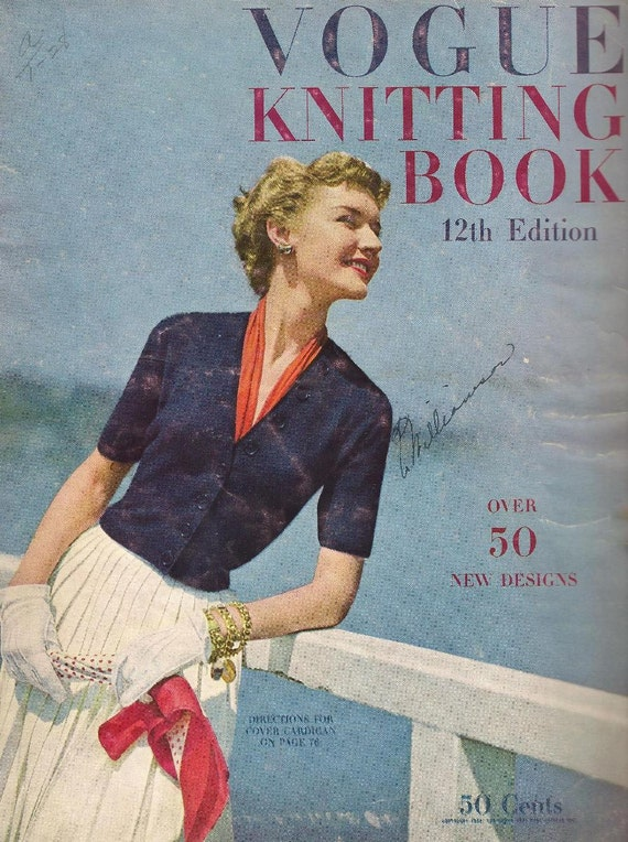 Vintage Vogue Knitting Pattern Books : vintage Vogue Knitting Book 1949