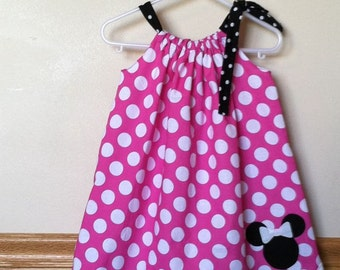 Minnie Mouse Inspired Pillowcase Dress Size 5-8