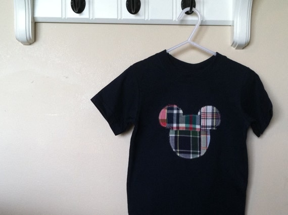 Madras Mickey Inspired Shirt Size 18m Ready to ship