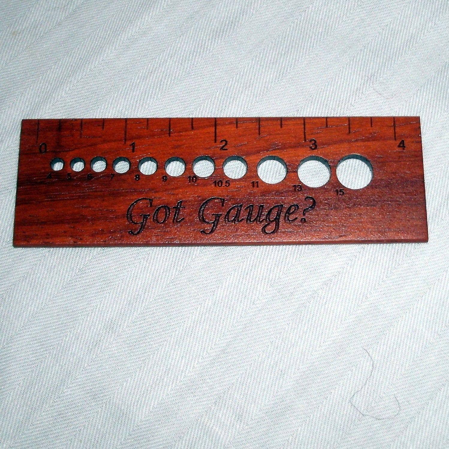 Knitting Gauge ruler with needle size gauge