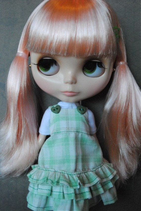 Blythe Green checked Dress
