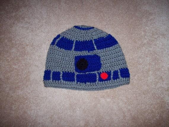 Crochet Robot Droid Hat