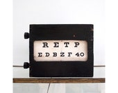 Antique Wooden Eye Chart Light Box