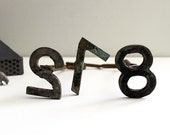 Vintage Iron Number Stamps