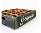 lll RESERVED lll Vintage Grapette Wooden Crate