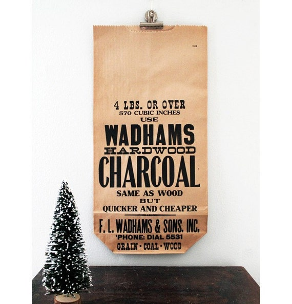 Vintage Charcoal Bag