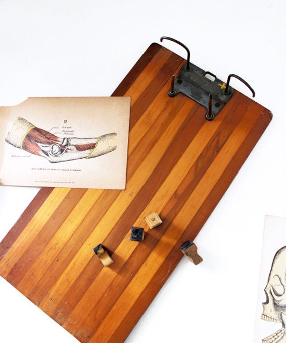 Antique Wooden Clipboard