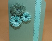 SALE - Handmade All-Occasion Card (Blooming Blue) by Little b Bunny on etsy