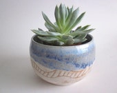 Handmade Blue and cream Ceramic Planter Home decor