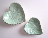 BFF Heart dishes, ring dish, heart dish, text, love, ceramic pottery,