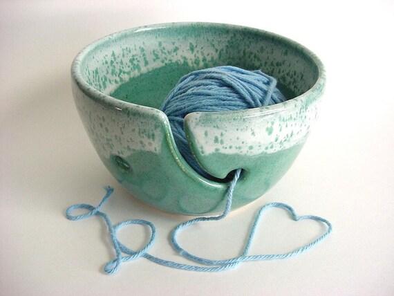 Yarn Bowl  Handmade Stoneware Pottery (yh163c)