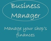 Business Manager - Etsy shop accounting and finance Excel spreadsheet