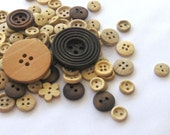 Wooden Buttons - Assorted styles of Wooden Buttons