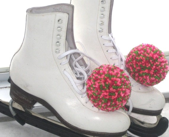 Reserved for Jonathan - Large Hairballs - Pom Pom's to Accessorize your Ice Skates - You Choose the Colors