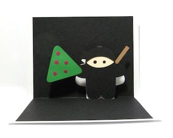 Christmas Ninja Pop Up Card