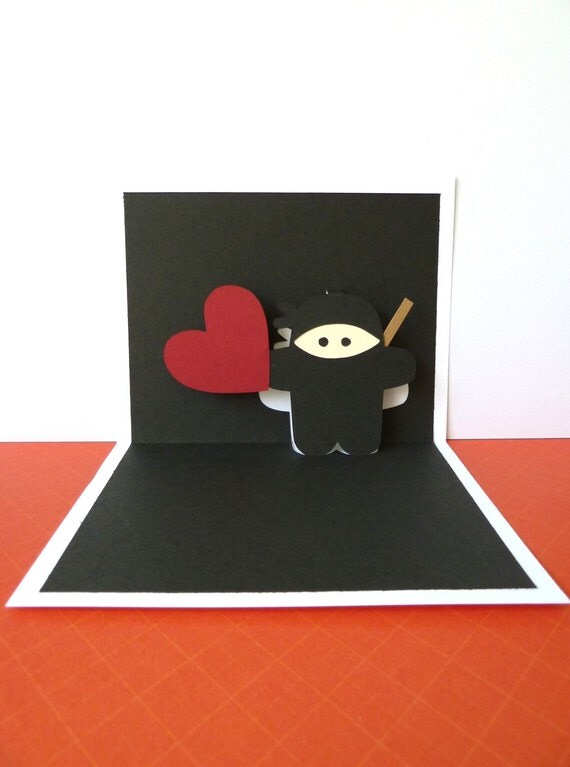 Ninja Pop Up Card