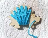 Henry the Hedgehog Embroidery Floss Holder