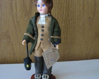 Vintage Paul Revere Doll made by Carlson