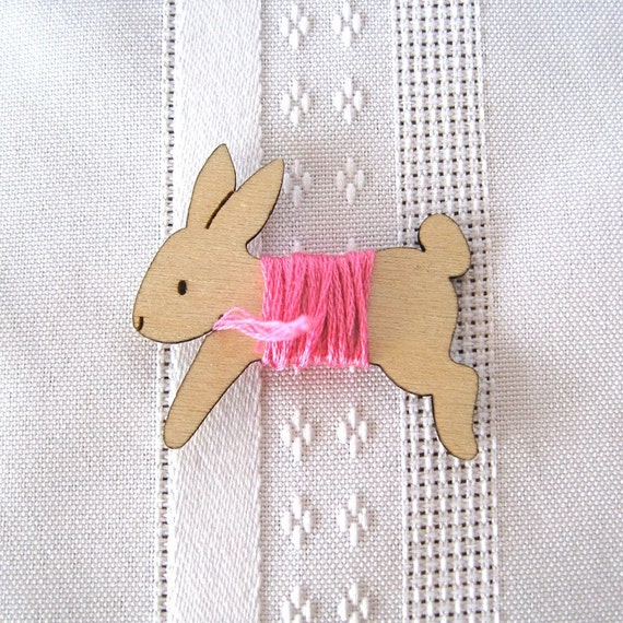 Lovey the Bunny Rabbit Embroidery Floss Holder